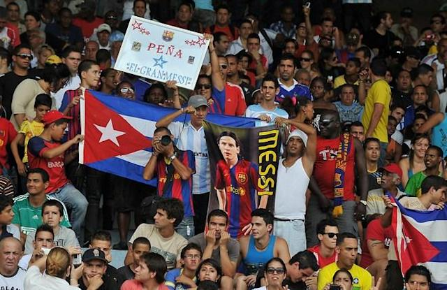 Cuban fans attend the FIFA World Cup Brazil 2014 CONCACAF qualifier match between Cuba and Canada at the Pedro Marrero stadium in Havana on June 8, 2012. Canada won 1-0. AFP PHOTO/STRSTR/AFP/GettyImages