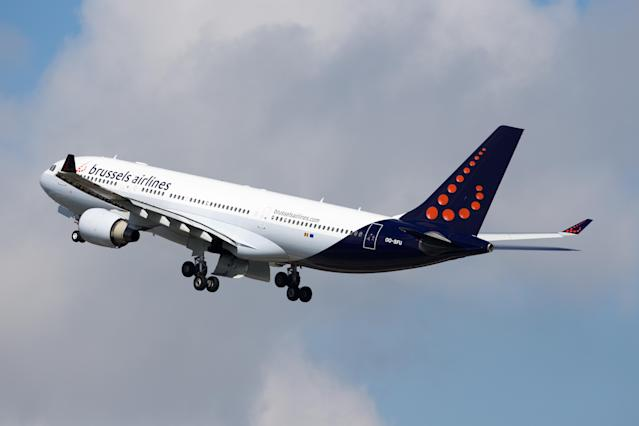 The incident happened on a Brussels Airlines flight. (Getty)
