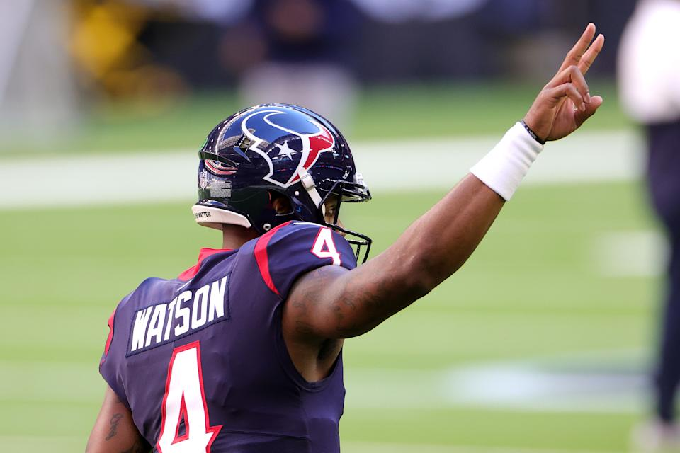 Could Deshaun Watson be traded before the season starts? (Photo by Carmen Mandato/Getty Images)
