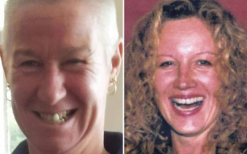 The family of victim Angela Murray (right) believe the deception at the hands of Julie Higgins (left) hastened her death a month later - BNPS