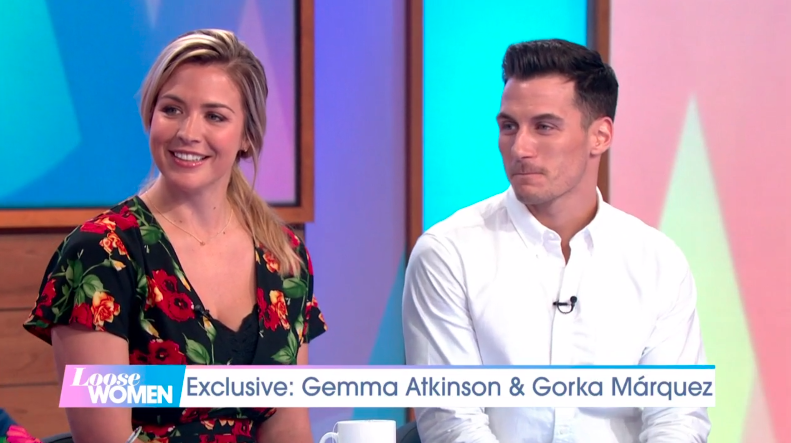 Gemma Atkinson and Gorka Marguez talked about becoming parents on Loose Women (Credit: ITV)