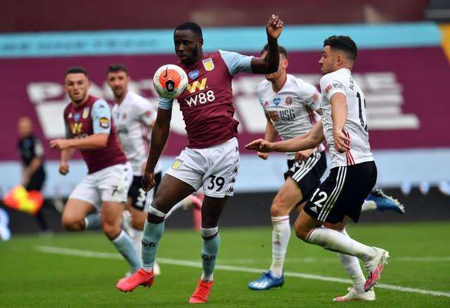 Aston Villa's Keinan Davis made his first Premier League start on Wednesday (Paul Ellis/NMC Pool/PA)