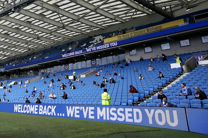 Brighton staged a successful pilot event against Chelsea last monthGetty