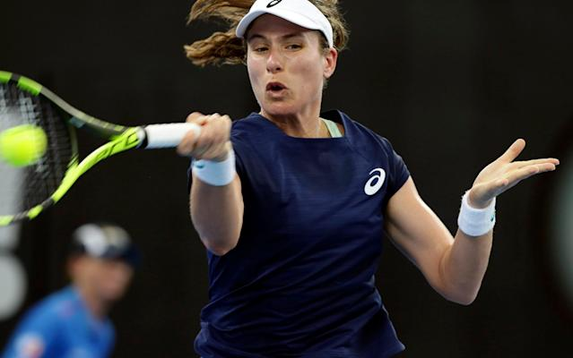 Johanna Konta will get her home grand slam under way next week, the Australia-born Briton's first since joining up with coach Michael Joyce, when she faces world No 92 Madison Brengle - AP