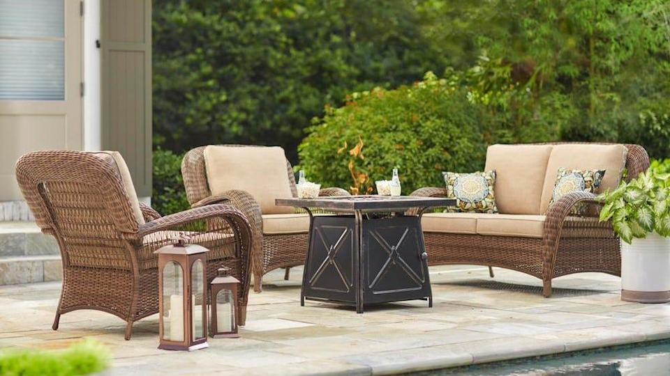 Find patio seating sets and the tools for your next DIY project.
