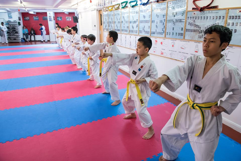 Taekwondo clubs are the perfect place for children to get active after lockdown, reckon Walkden and Cook