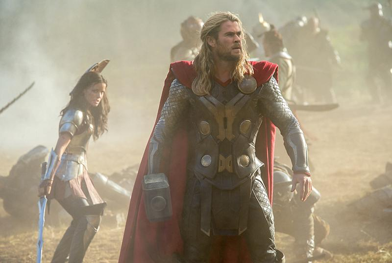 "Sif following Thor everywhere in ""The Dark World."""