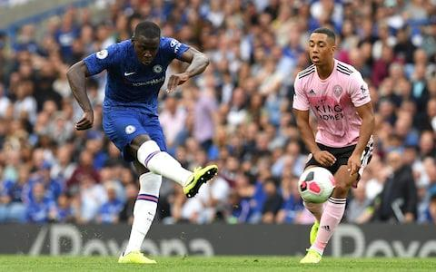 Kurt Zouma shoots from 35 yards - with inevitable results - Credit: GETTY IMAGES