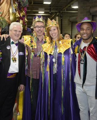 The Chairman, Royal Court and Grand Marshall prior to last year's parade. Pictured from left: Gordon Snyder, Scott Sloan, Sheila Gray and Giovani Bernard.
