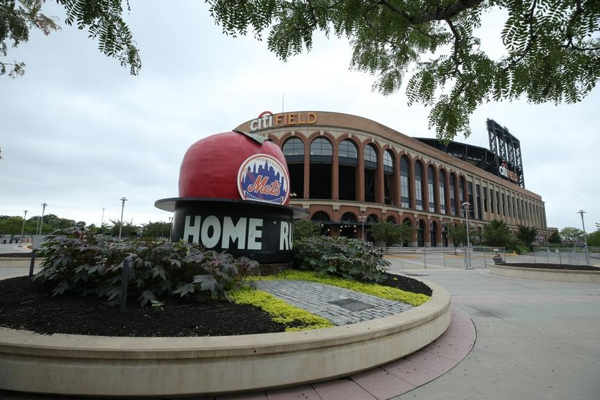 A general view outside Citi Field
