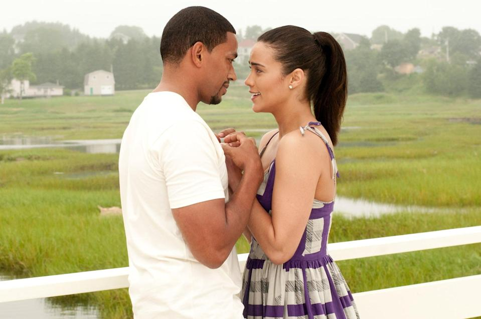 "<p>A 2011 romantic-comedy drama, <strong>Jumping the Broom</strong> tackles the age-old trope of a wealthy girl falling in love with a poor boy, much to the dismay of her family. In this case, the pairing is Sabrina Watson (Paula Patton) and Jason Taylor (Laz Alonso), whose families clash on their <a class=""link rapid-noclick-resp"" href=""https://www.popsugar.com/Wedding"" rel=""nofollow noopener"" target=""_blank"" data-ylk=""slk:wedding"">wedding</a> day due to differing traditions and family secrets. When all is said and done, only one question remains: will Sabrina and Jason finally jump the broom?</p> <p><a href=""http://www.netflix.com/watch/70178639"" class=""link rapid-noclick-resp"" rel=""nofollow noopener"" target=""_blank"" data-ylk=""slk:Watch Jumping the Broom on Netflix"">Watch <strong>Jumping the Broom</strong> on Netflix</a>.</p>"