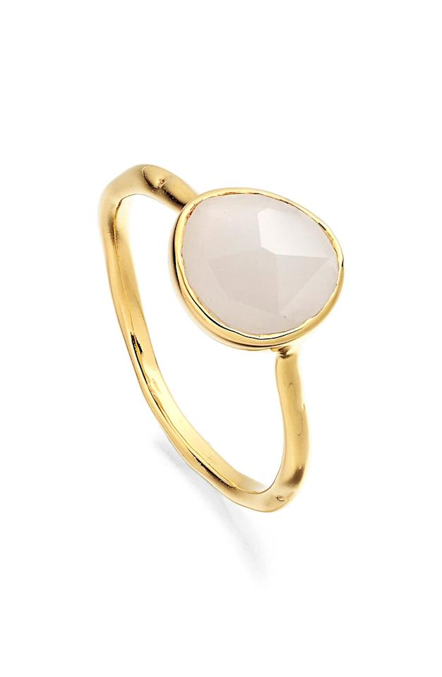 "<p><strong>MONICA VINADER</strong></p><p>nordstrom.com</p><p><strong>$135.00</strong></p><p><a href=""https://shop.nordstrom.com/s/monica-vinader-siren-semiprecious-stone-stacking-ring/4650255"" target=""_blank"">Shop Now</a></p><p>This minimalist moonstone ring is the perfect accent for a summer White Party or cocktail to-do. </p>"