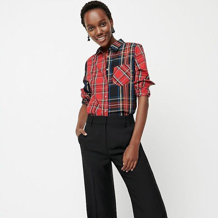 """This top comes in sizes 00 to 10. <a href=""""https://fave.co/2w1EzrY"""" rel=""""nofollow noopener"""" target=""""_blank"""" data-ylk=""""slk:Find it on sale at J.Crew for $67"""" class=""""link rapid-noclick-resp"""">Find it on sale at J.Crew for $67</a>."""