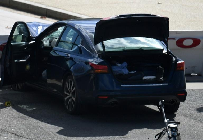 The car that crashed into a barrier near the US Capitol on April 2, 2021