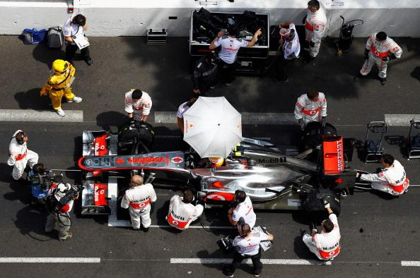 Lewis Hamilton of Great Britain and McLaren prepares to drive during the Monaco Formula One Grand Prix at the Circuit de Monaco on May 27, 2012 in Monte Carlo, Monaco. (Photo by Paul Gilham/Getty Images)