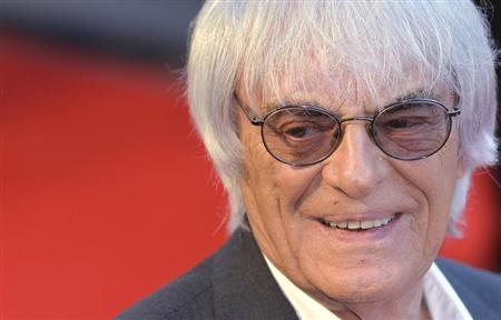 Bernie Ecclestone arrives at the world premiere of Rush at a cinema in Leicester Square, central London, September 2, 2013. REUTERS/Toby Melvi