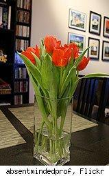 fresh-cut flowers great for home staging