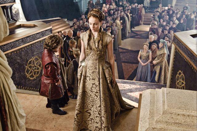 <p>And speaking of <em>GoT </em>couples that are better off apart, Sansa Stark and Tyrion Lannister were forced to wed in the series. While this marriage was also short-lived, Sansa's gown was v pretty.</p>