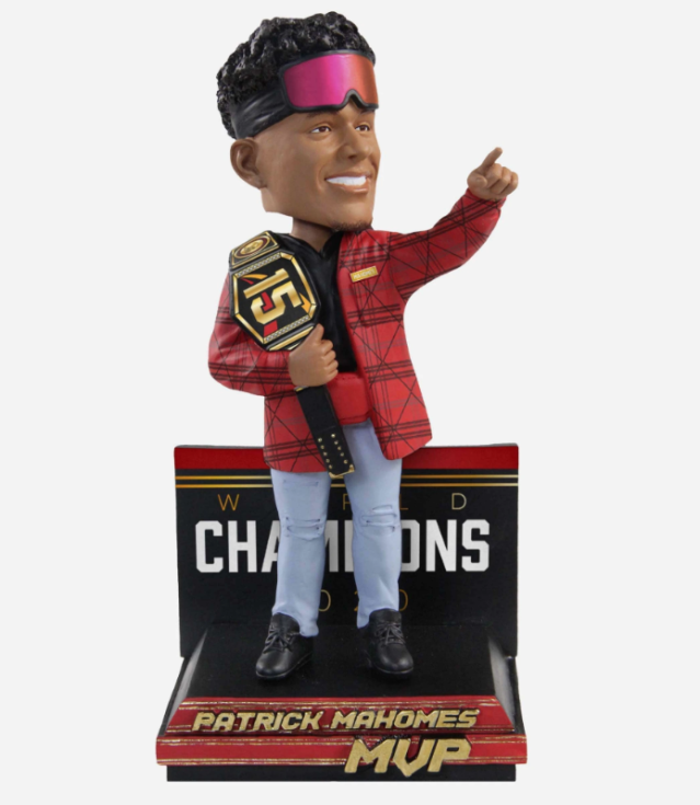 Chiefs Super Bowl LIV championship bobbleheads make the best accessory for any home office