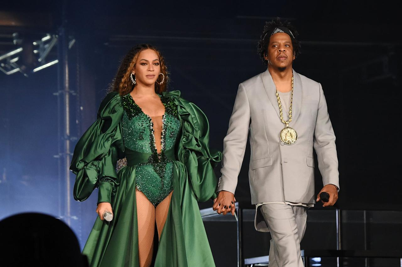 "<p>The mother and father of <a href=""https://www.popsugar.com/celebrity/Cutest-Beyonce-Blue-Ivy-Pictures-42853430"" class=""ga-track"" data-ga-category=""Related"" data-ga-label=""https://www.popsugar.com/celebrity/Cutest-Beyonce-Blue-Ivy-Pictures-42853430"" data-ga-action=""In-Line Links"">7-year-old Blue Ivy</a> and <a href=""https://www.popsugar.com/celebrity/Beyoncé-Rumi-Sir-Pictures-December-2018-45623747"" class=""ga-track"" data-ga-category=""Related"" data-ga-label=""https://www.popsugar.com/celebrity/Beyonc%C3%A9-Rumi-Sir-Pictures-December-2018-45623747"" data-ga-action=""In-Line Links"">2-year-old twins Sir and Rumi</a> celebrated another year of marriage, over a decade after they <a href=""https://www.popsugar.com/celebrity/Beyonce-Jay-Z-Best-PDA-Moments-Pictures-27315024"" class=""ga-track"" data-ga-category=""Related"" data-ga-label=""https://www.popsugar.com/celebrity/Beyonce-Jay-Z-Best-PDA-Moments-Pictures-27315024"" data-ga-action=""In-Line Links"">tied the knot on April 4, 2008</a>.</p>"