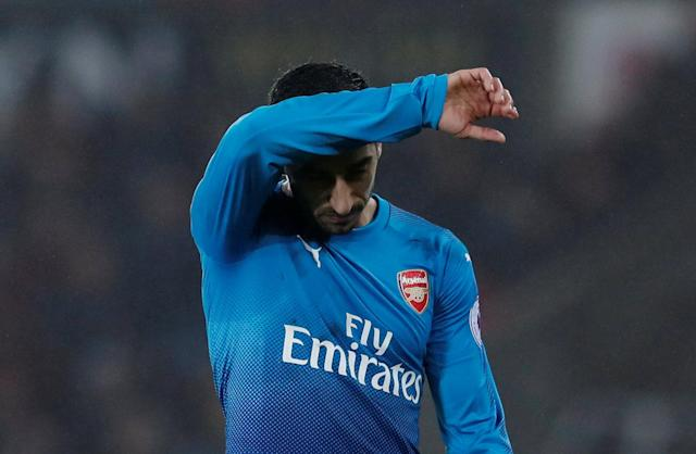 "<a class=""link rapid-noclick-resp"" href=""/soccer/players/henrikh-mkhitaryan/"" data-ylk=""slk:Henrikh Mkhitaryan"">Henrikh Mkhitaryan</a> debuted for Arsenal off the bench in a loss at Swansea. (Getty)"