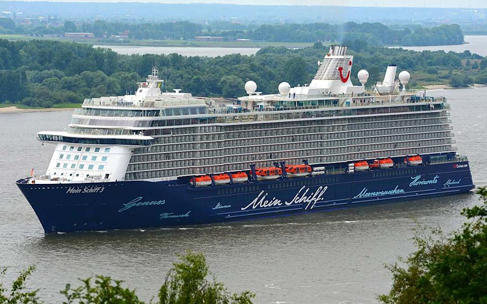 Mein Schiff 6, operated by the Tui Group, is sailing German passengers