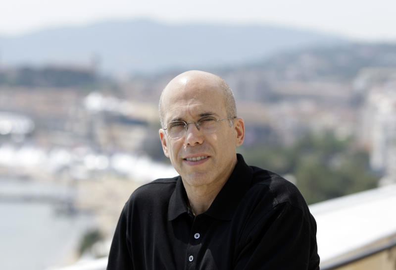 In a May 14, 2008 photo Dreamworks animation SKG Inc. chief executive Jeffrey Katzenberg poses for a portrait during the 61st International film festival in Cannes, southern France.  Dreamworks and five other studios are teaming up with Wal-Mart Stores Inc.  for a new disc to digital service that launches Monday April 16, 2012  at Walmart stores. (AP Photo/Matt Sayles)