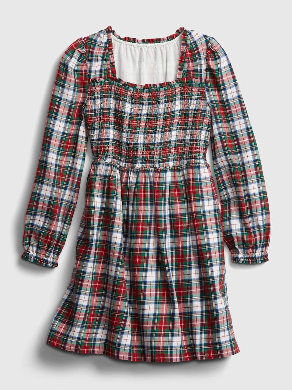 <p>This <span>Gap Kids Smocked Plaid Dress</span> ($29, originally $50) reminds us of a cute <b>American Girl</b> doll.</p>
