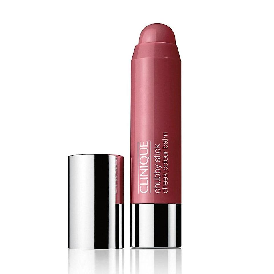 """<p><strong>Plum</strong></p> <p>Ciucci recommends this color for a more dramatic evening look. """"Plum cheeks give a little bit more drama,"""" she says. """"With fair skin, it's important to look for a translucent stain or cream in a plum shade that's a step or two darker than your lips, with purple or blue undertones."""" This hue is also a bit of an overachiever, doubling as a <a href=""""http://www.allure.com/makeup-looks/2014/how-to-contour-and-highlight?mbid=synd_yahoo_rss"""" rel=""""nofollow noopener"""" target=""""_blank"""" data-ylk=""""slk:contouring"""" class=""""link rapid-noclick-resp"""">contouring</a> shade for fair skin. """"Dab a little bit of plum blush in the hollows of cheeks for extra definition and a nice shadow, rather than a harsh, obvious line,"""" says Ciucci. </p> <p>If you're stumped for choices, start off with a classic like the <a href=""""https://www.allure.com/story/best-of-beauty-awards-2020?mbid=synd_yahoo_rss"""" rel=""""nofollow noopener"""" target=""""_blank"""" data-ylk=""""slk:Best of Beauty"""" class=""""link rapid-noclick-resp"""">Best of Beauty</a>-winning Clinique Chubby Stick Cheek Colour Balm in Plumped Up Peony for a sheer plum shade that's nearly impossible to mess up. Just dot on and blend out.</p> <p><strong>$23</strong> (<a href=""""http://shop-links.co/1596382107483069514"""" rel=""""nofollow noopener"""" target=""""_blank"""" data-ylk=""""slk:Shop Now"""" class=""""link rapid-noclick-resp"""">Shop Now</a>)</p>"""