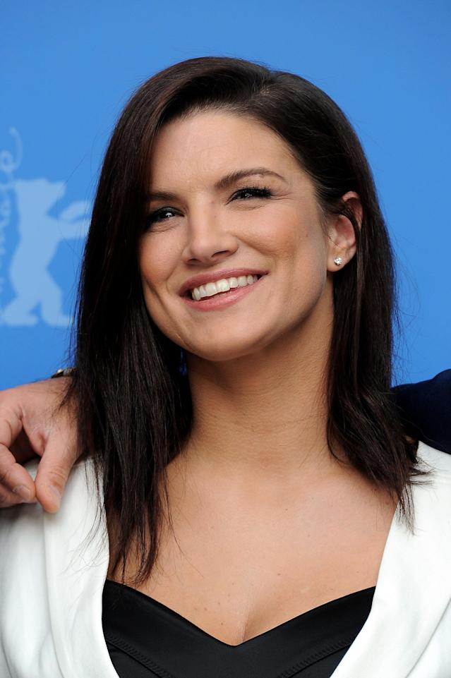 """BERLIN, GERMANY - FEBRUARY 15: Actress Gina Carano attends the """"Haywire"""" Photocall during day seven of the 62nd Berlin International Film Festival at the Grand Hyatt on February 15, 2012 in Berlin, Germany. (Photo by Pascal Le Segretain/Getty Images)"""
