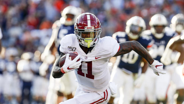 Alabama wide receiver Henry Ruggs III (11) seems like a first-round lock in this year's draft. (AP Photo/Butch Dill)