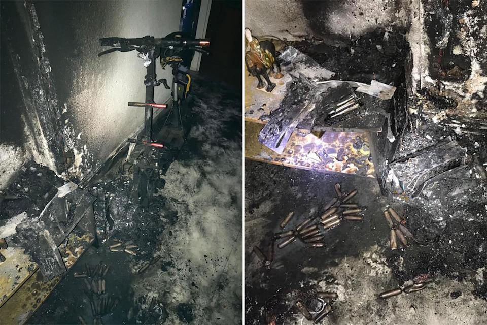 The fire took place in an 11th floor unit of Block 214 Marsiling Lane. (PHOTOS: SCDF)