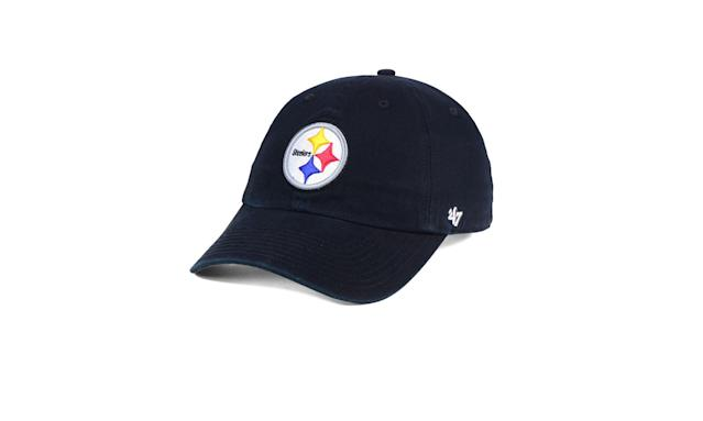 "<p>Pittsburgh Steelers Clean Up hat, $25,<a href=""https://www.47brand.com/products/pittsburgh-steelers-47-clean-up-1"" rel=""nofollow noopener"" target=""_blank"" data-ylk=""slk:47brand.com"" class=""link rapid-noclick-resp""> 47brand.com</a> </p>"