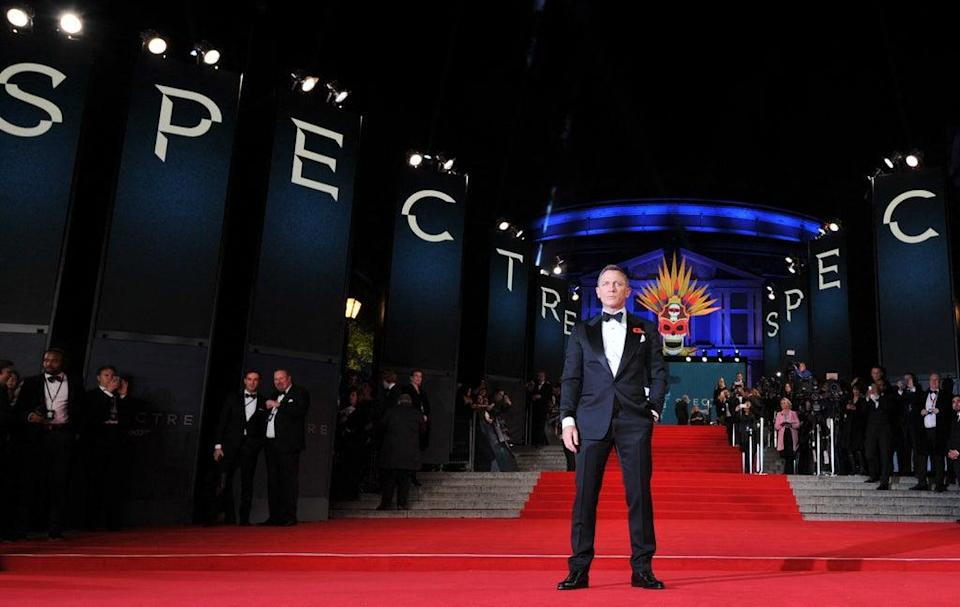 Craig at the premiere of Spectre (AFP via Getty Images)