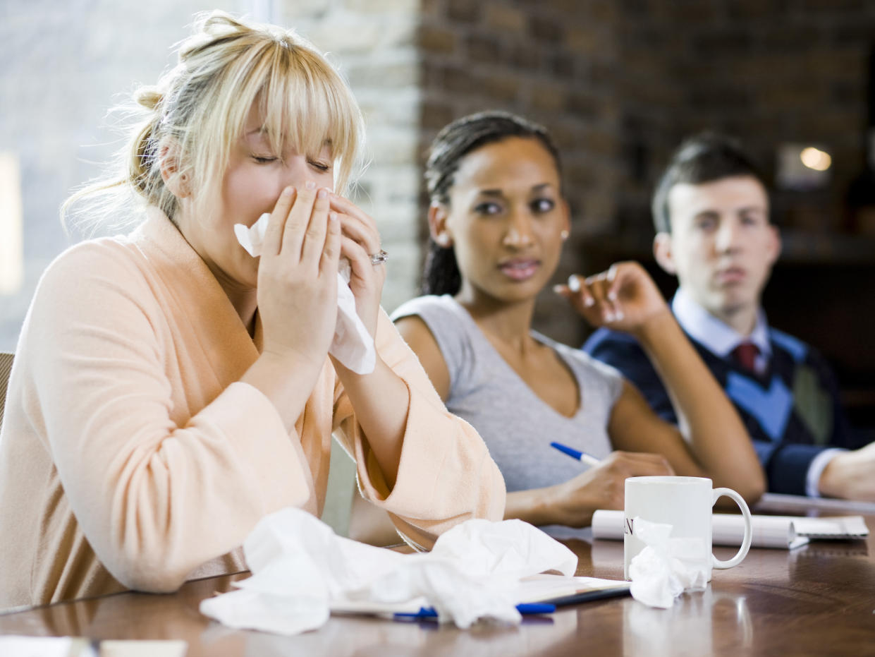 The average Brit doubled the number of days they took off sick over the past year. Photo: Getty