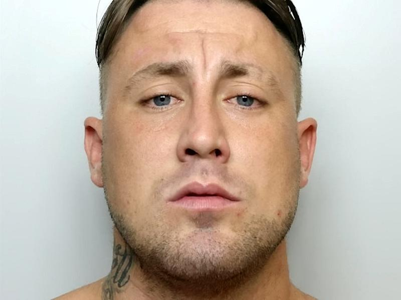 Jake Evans was jailed for three years over the racist attack (Picture: SWNS)