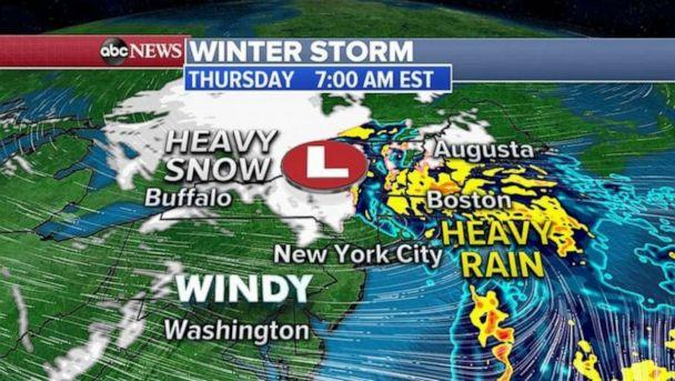 PHOTO: As the storm moves through the Northeast, snow, wind and even blizzard alerts have been issued for 14 states. (ABC News)