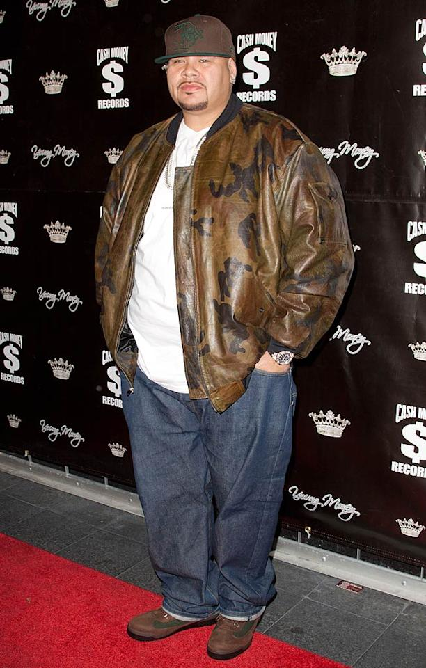 """Fat Joe was casual yet comfy in his camouflage leather jacket and baggy jeans. John Parra/<a href=""""http://www.wireimage.com"""" target=""""new"""">WireImage.com</a> - November 7, 2010"""