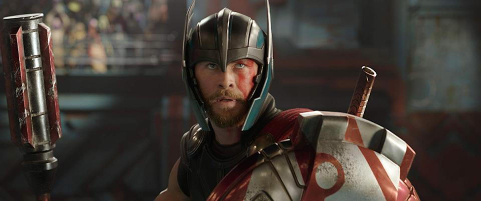 Chris Hemsworth as the Nordic God in Thor: Ragnarok, which has been roundly cited as Marvel's most experimental movie. (Image by Marvel)