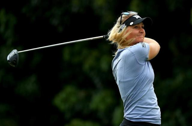 Sweden's Anna Nordqvist, a two-time major winner, began her season on the LPGA Tour but won two weeks ago on the Cactus Tour, a third-tier circuit playing on in Arizona despite the coronavirus pandemic (AFP Photo/Mike Ehrmann)