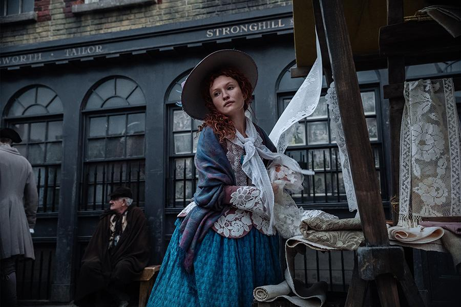 <p>Emily Browning as Essie MacGowan in Starz's <i>American Gods</i>.<br /><br />(Photo: Starz) </p>