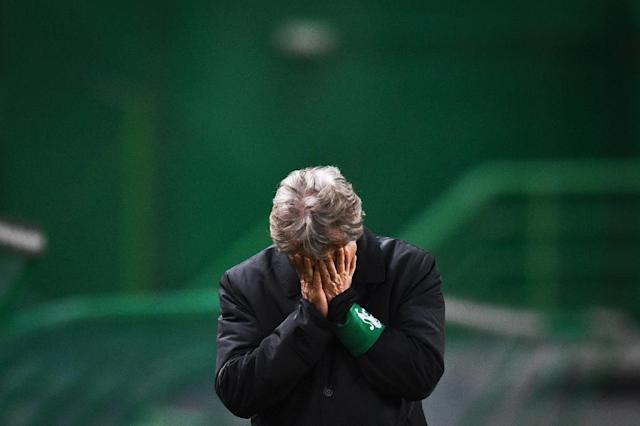Jorge Jesus has secured his release after a difficult and violent end to the season with Sporting Lisbon. (AFP Photo/PATRICIA DE MELO MOREIRA)
