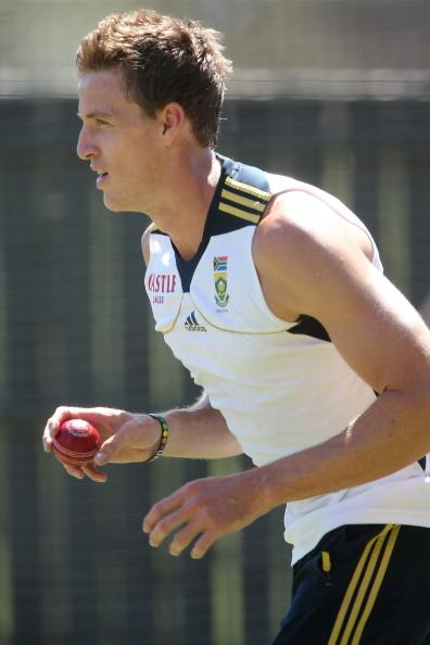 ADELAIDE, AUSTRALIA - NOVEMBER 19: Morne Morkel of South Africa bowls in the nets during a South African Proteas training session at Adelaide Oval on November 19, 2012 in Adelaide, Australia.  (Photo by Morne de Klerk/Getty Images)