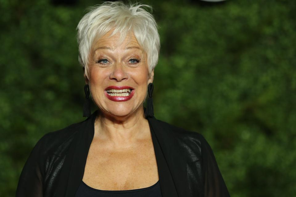 """British actress Denise Welch poses on the red carpet upon arrival for the World premiere of the television series """"The Crown - Series 3"""" in London on November 13, 2019. (Photo by Isabel Infantes / AFP) (Photo by ISABEL INFANTES/AFP via Getty Images)"""