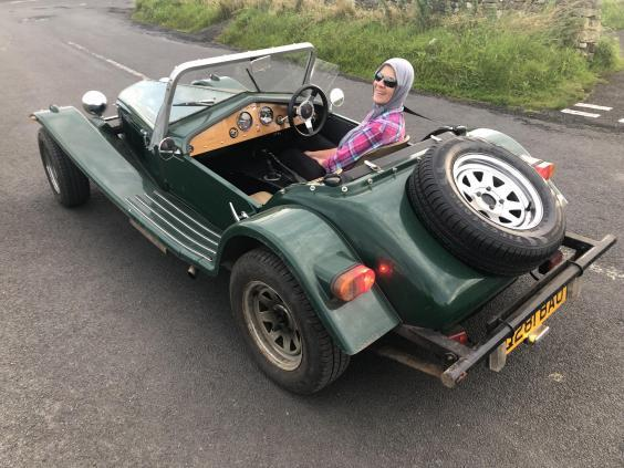 Open top: a 1970s Marlin sports car in Northumberland (Simon Calder)