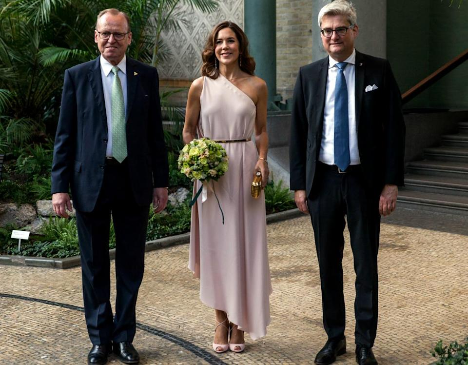 <p>The Princess looked fit for a wedding when she presented the Carlsberg Foundation Research Prize in Denmark last September. Source: Getty </p>