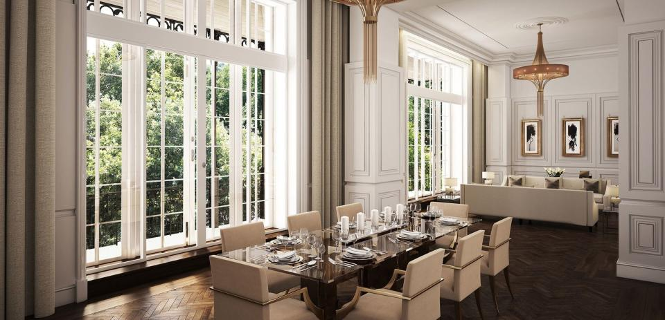 Reception room in the famous mansion. Photo: Wetherell