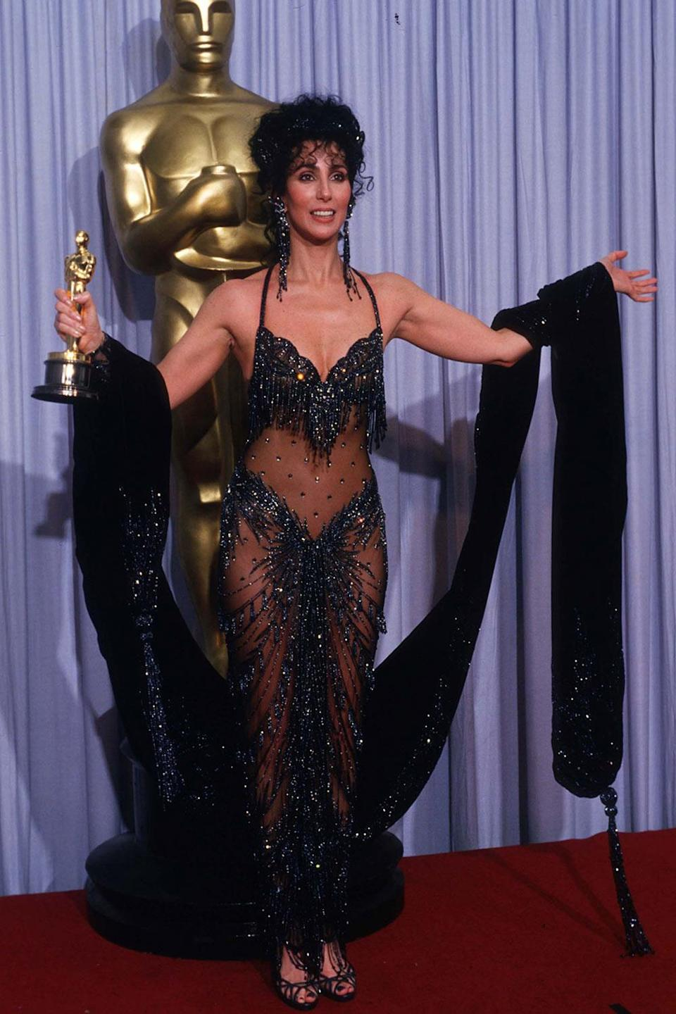 <p>... is look as good as Cher so that I can rock this dress that she wore to the Academy Awards in 1988. She won that year for her role in <i>Moonstruck</i>. </p>