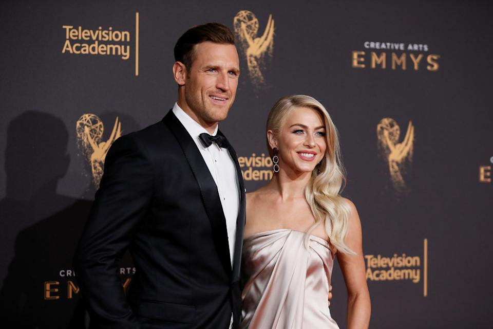 Brooks Laich and wife dancer Julianne Hough at the 2017 Creative Arts Emmy Awards in Los Angeles, California.