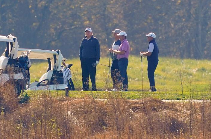 President Donald Trump was golfing when news broke that he had lost the election.  (Photo: ASSOCIATED PRESS)